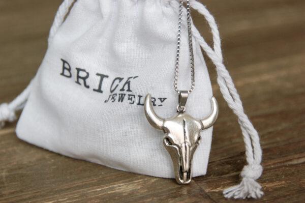 Ketting Buffel   Brick Jewelry   Natuursteen  Sieraden