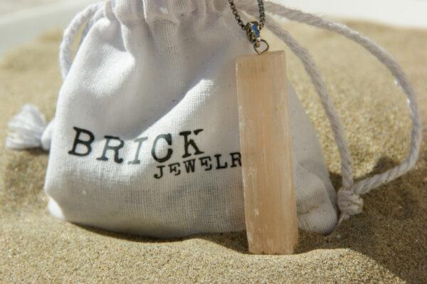 Oranje Seleniet | Brick Jewelry | Natuursteen | Kettingen