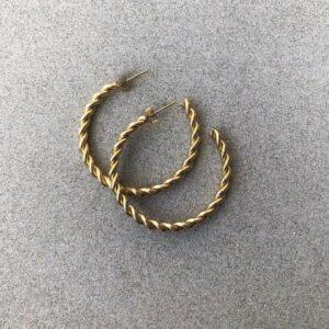 Oorbellen Twist | Brick Jewelry | Natuursteen| Sieraden