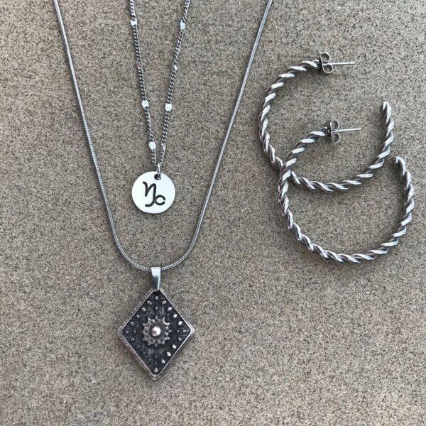 Sterrenbeeld Steenbok | Brick Jewelry | Natuursteen| Sieraden